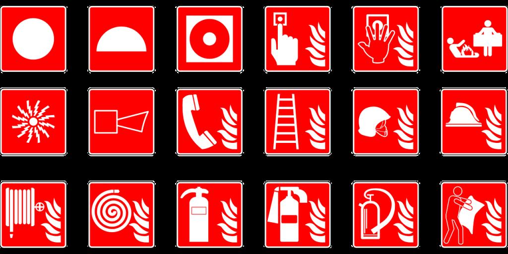 symbols, emergency, fire